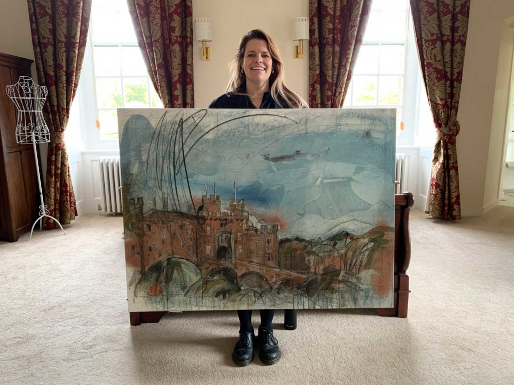 Faye Bridgewater Landscape Artist of the Year 2019 at Herstmonceux Castle